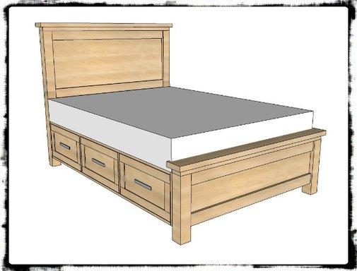DIY Farmhouse Storage Bed With Storage Drawers - SHTF Preparedness