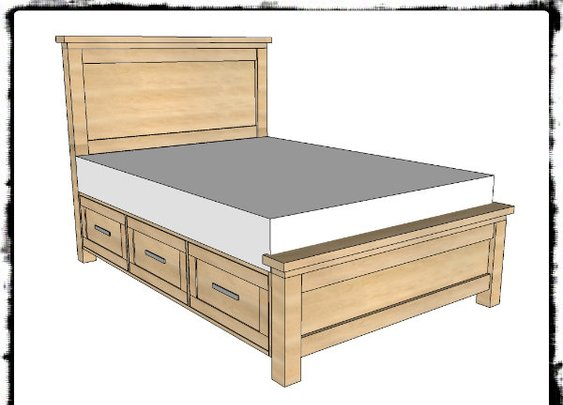 DIY Farmhouse Storage Bed With Storage Drawers - SHTF Preparedness