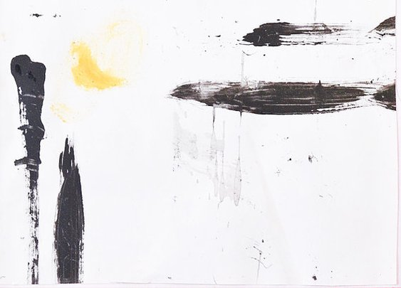 Black and white art small spaces artwork by LaBottegaDegliUsvei