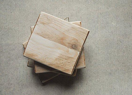 Reclaimed wood 3 x 3 tiles  blank wood by LaBottegaDegliUsvei