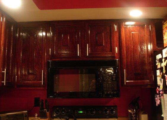DIY How to: Refinish Refinishing Wood Kitchen Cabinets - YouTube