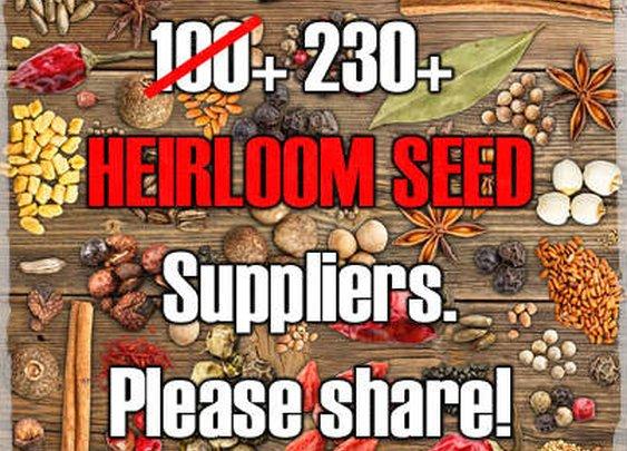 List Of 230+ Heirloom Seed Suppliers - SHTF Preparedness