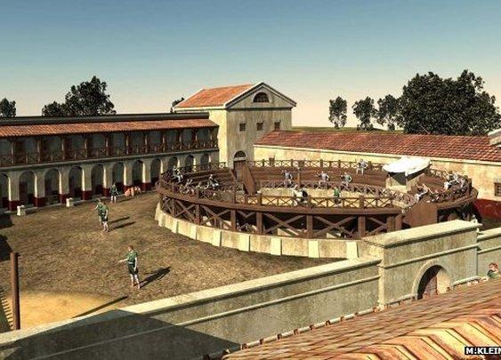 BBC - Roman 'gladiator school' recreated virtually