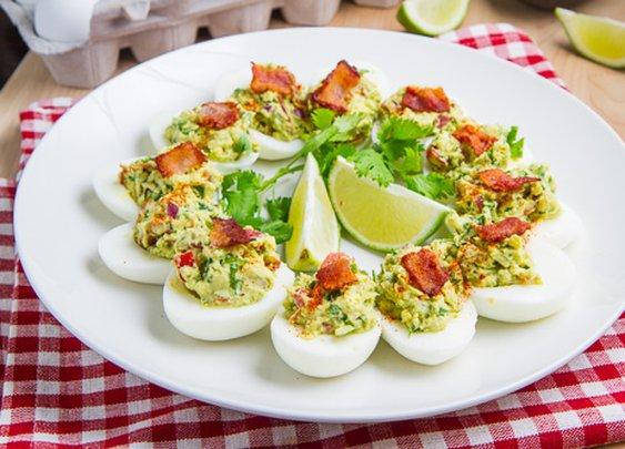 Closet Cooking: Bacon Guacamole Deviled Eggs