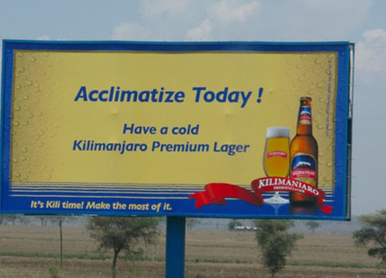 Icy Cold…Refreshment? Kilimanjaro Lager - Thomson Treks