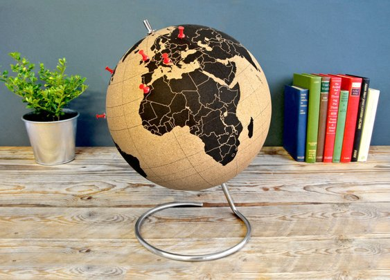 Pinnable Cork Globe
