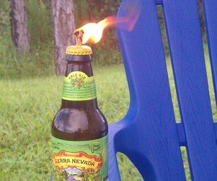 Glass Bottle Tiki Torch