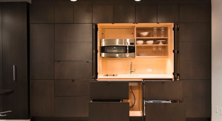 Hide Your Dirty Drawers...And Other Kitchen Accessories Behind These Cabinets