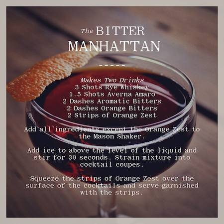 Mason Shaker Bitter Manhattan Cocktail