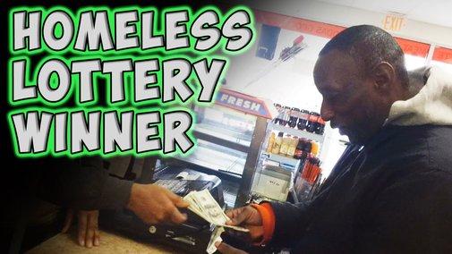 Homeless Lottery Winner - Gentlemen, take heed!