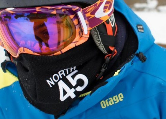 North45 scarf leaves your goggles fog-free