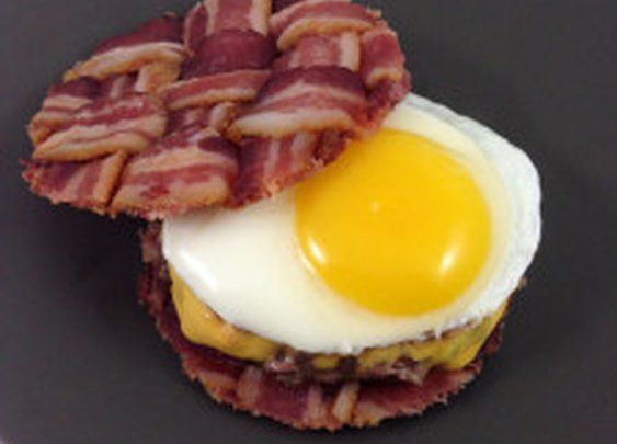 The Bacon Weave Breakfast Burger