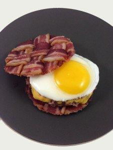 The Bacon Weave Breakfast Burger