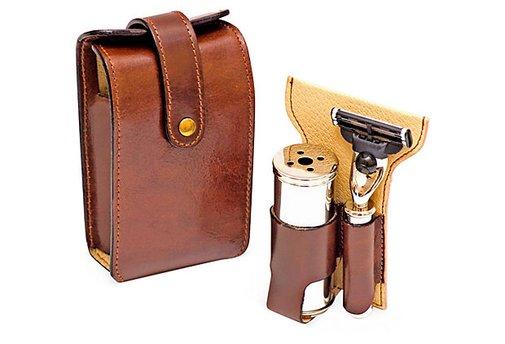 IL Ceppo Mach3 2pc Shave Set, Brown