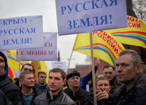 Russia Backs Rally in Support of Crimea - Video - NYTimes.com