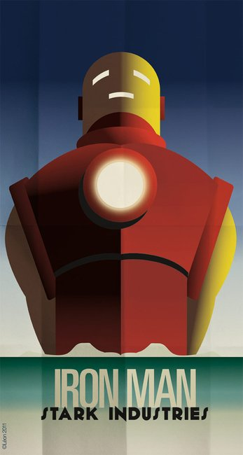 Art Deco Superhero Posters