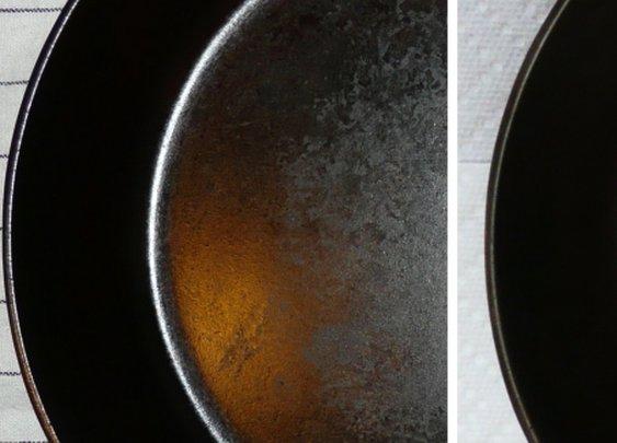 Chemistry of Cast Iron Seasoning: