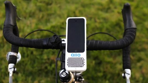 The Allo combines a bike-mounted speaker and phone case