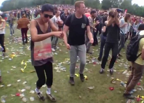 Ravers Dancing to the Benny Hill Theme