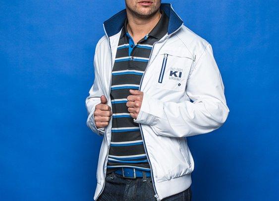 Blouson de transition + Polo dry fit Véridic + Jeans urbain