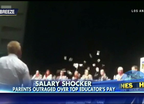 VIDEO: Enraged Taxpayer Throws Money at California Superintendent Who Makes $663K | Fox News Insider