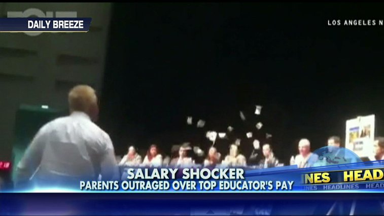 VIDEO: Enraged Taxpayer Throws Money at California Superintendent Who Makes $663K   Fox News Insider