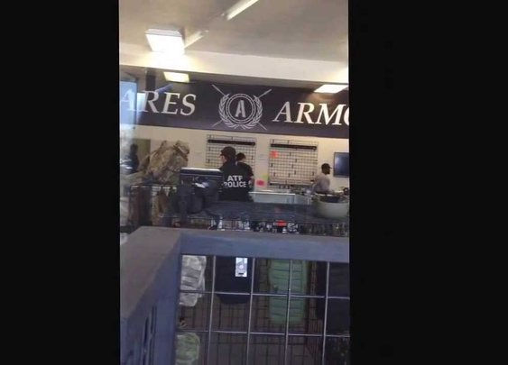 ATF breaks into Ares Armor in National City our Constitution is under Attack!!!!