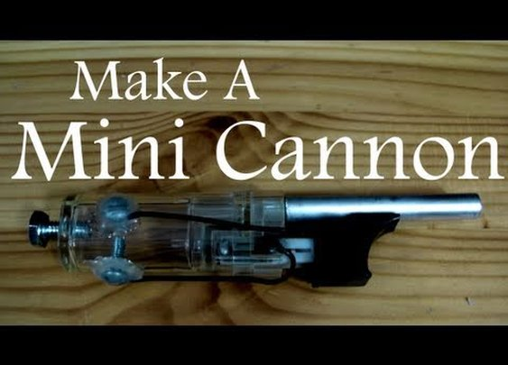 Make a Mini Cannon from a Lighter