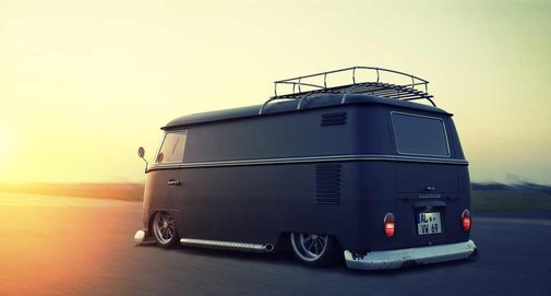 Custom VW Bus, by Alex Langletz | Baxtton