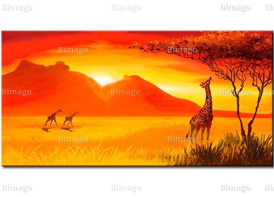 Toile de savane Girafe