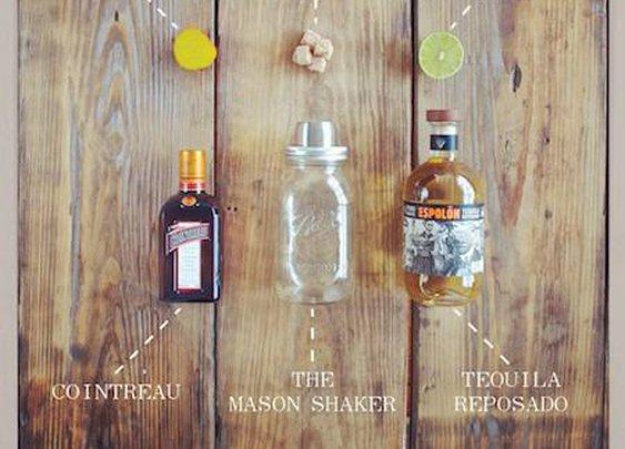 Mason Shaker Golden Ticket Cocktail