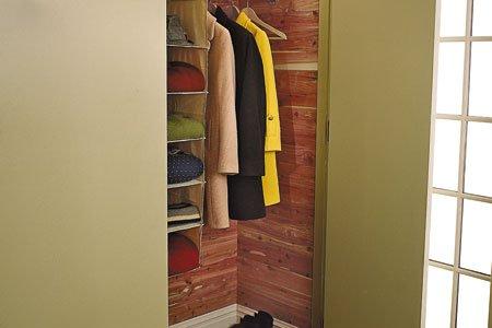 Line your closet with Cedar to prevent bugs & mildew.