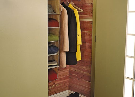 Line your closet with Cedar to prevent bugs & mildew.