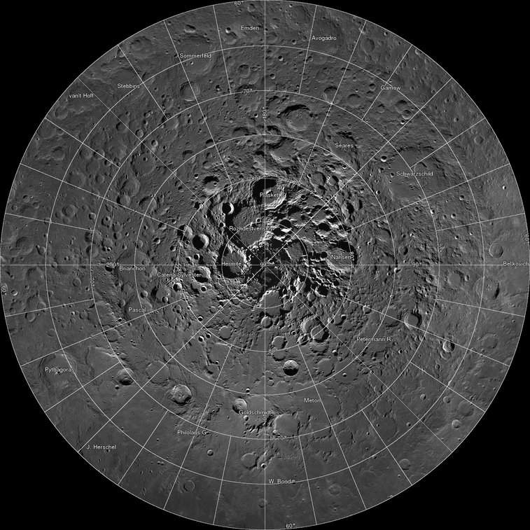 Zoom to the Moon's North Pole with this Incredible New Gigapixel Map