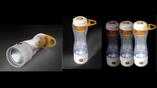 ÖKO Odyssey 6-in-1 bottle filters water and shines light