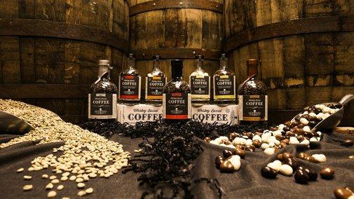 Small Batch, Whiskey Barrel Aged, Coffee