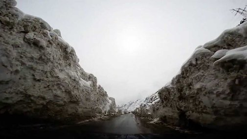 Driving through an avalanche - YouTube