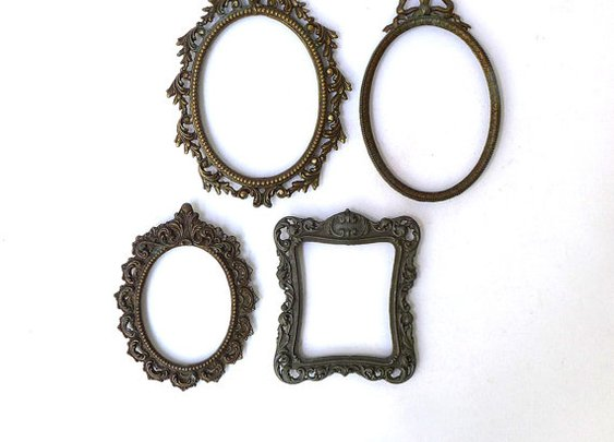 Vintage mid century ornate baroque Italian brass by evaelena