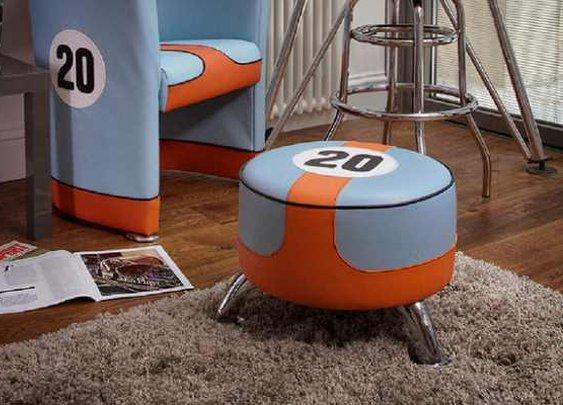Steve McQueen Footstool by Vintage 60 | Baxtton