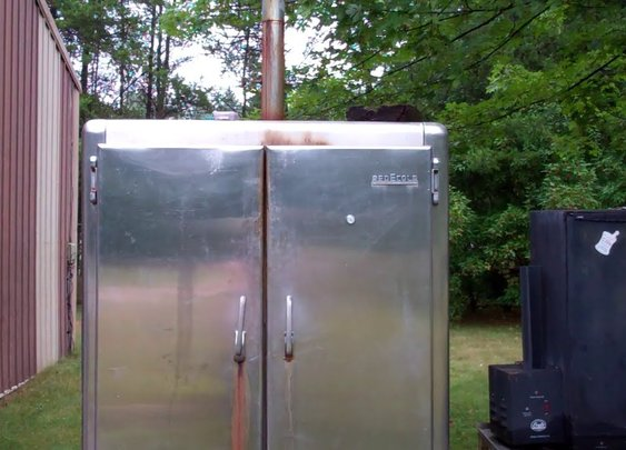 How I Converted And Old Freezer/Refrigerator Into A Awesome Smoker! Smoke Baby Smoke! - YouTube