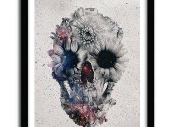 floral skull3 by Ali Gulec  - artandtoys.com