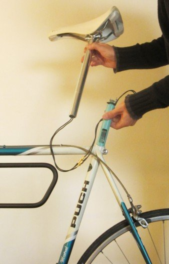 ShySpy GPS bike computer designed to monitor performance and protect against theft
