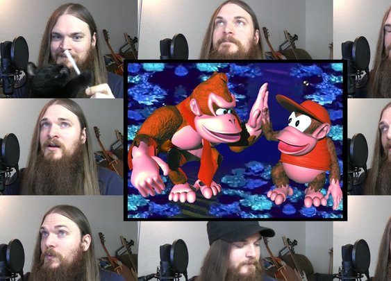 Donkey Kong Country - Aquatic Ambience Acapella - YouTube