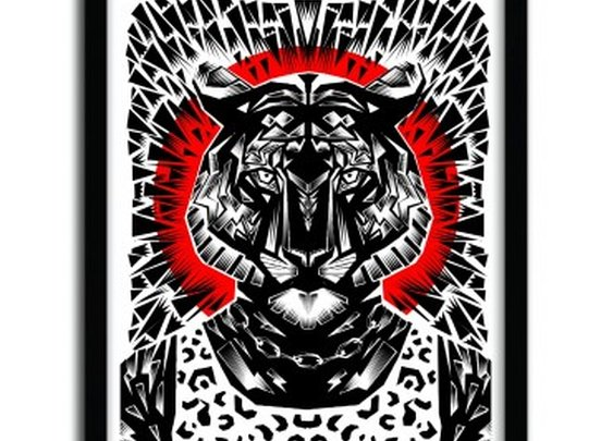 Print Tiger by Ali Gulec  - artandtoys.com