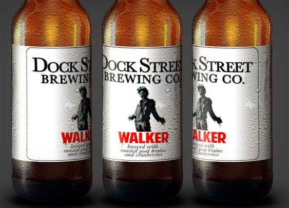 Zombie Beer Brewed with Real Brains