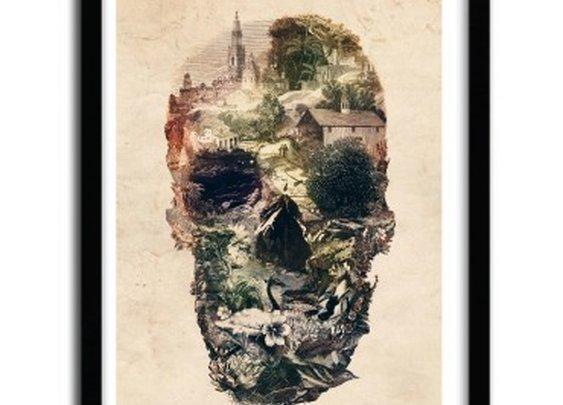 #print Skull Town by Ali Gulec  - artandtoys.com