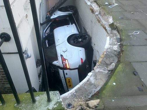 How not to park an £82,000 Range Rover