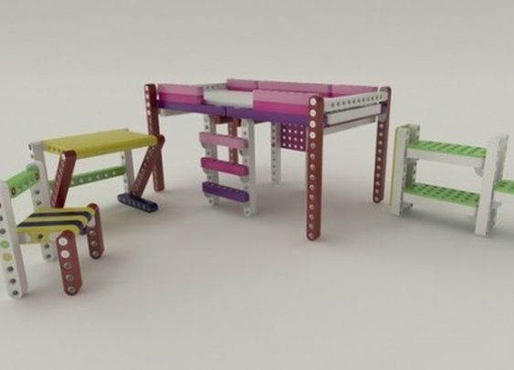 Olla lets children build their own furniture like Lego