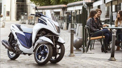 Yamaha announces narrow, light and very affordable Tricity tilting 3-wheeler