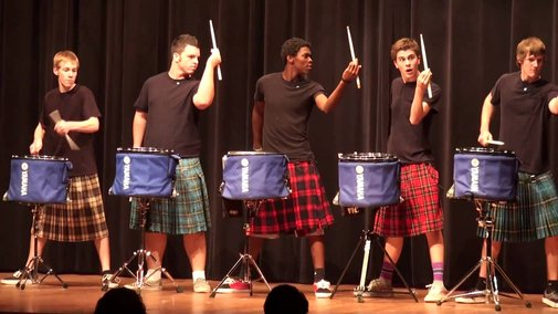 The Official Hot Scots Drum Line